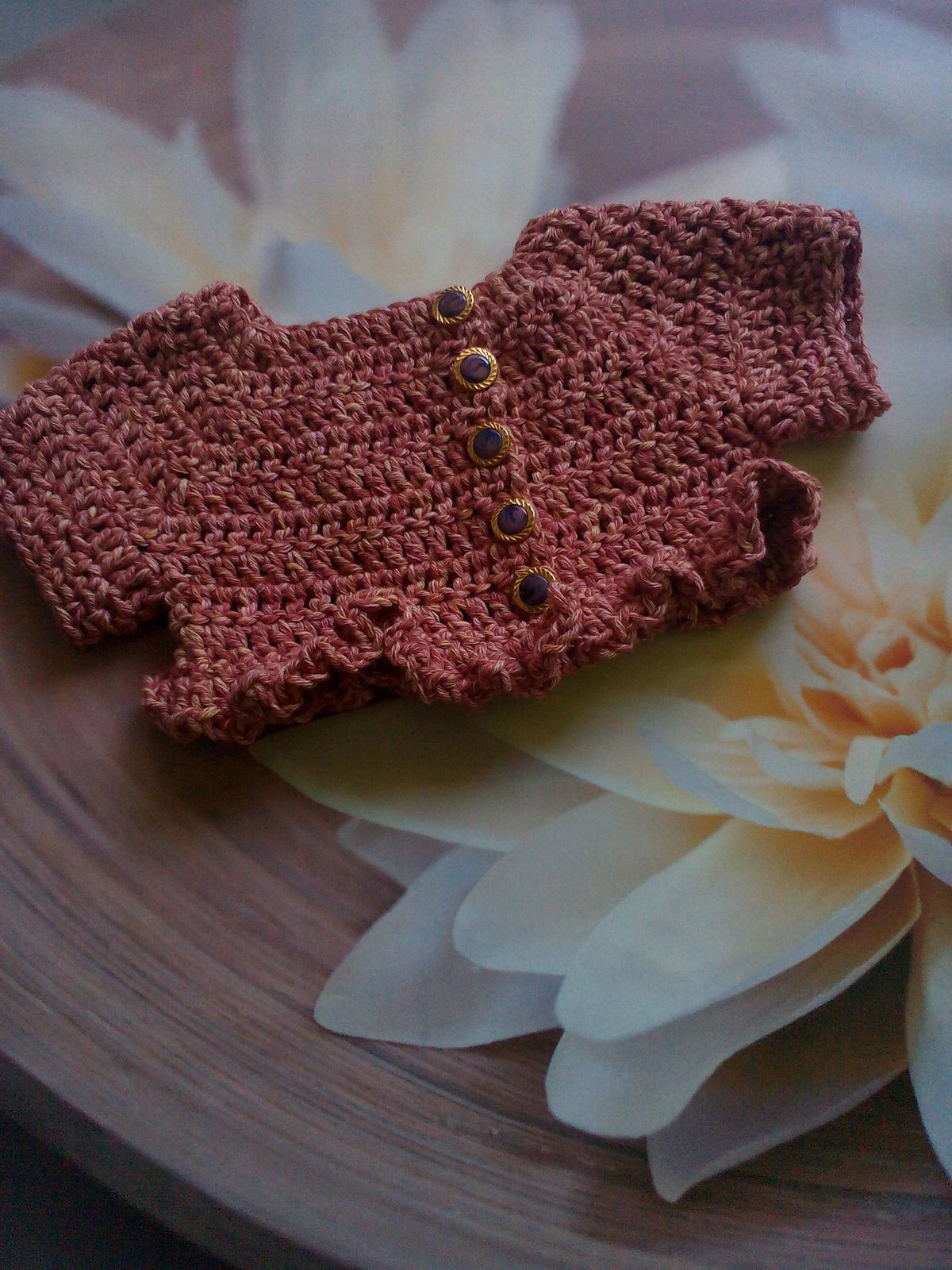 Primavera Ruffle Shrug For Babies By Adriana Veleda - Free Crochet ...