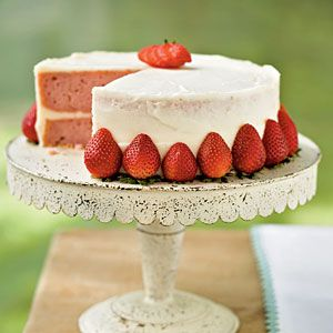 Strawberry Layer Cake | MyRecipes.com. This looks amazing. Have to try this one! #recipes #dessert