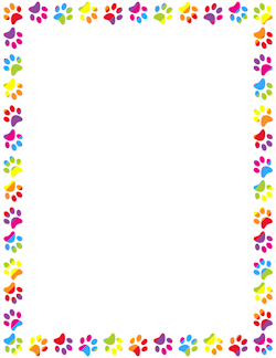 Rainbow Paw Print Border | Borders, Frames & Backgrounds ...