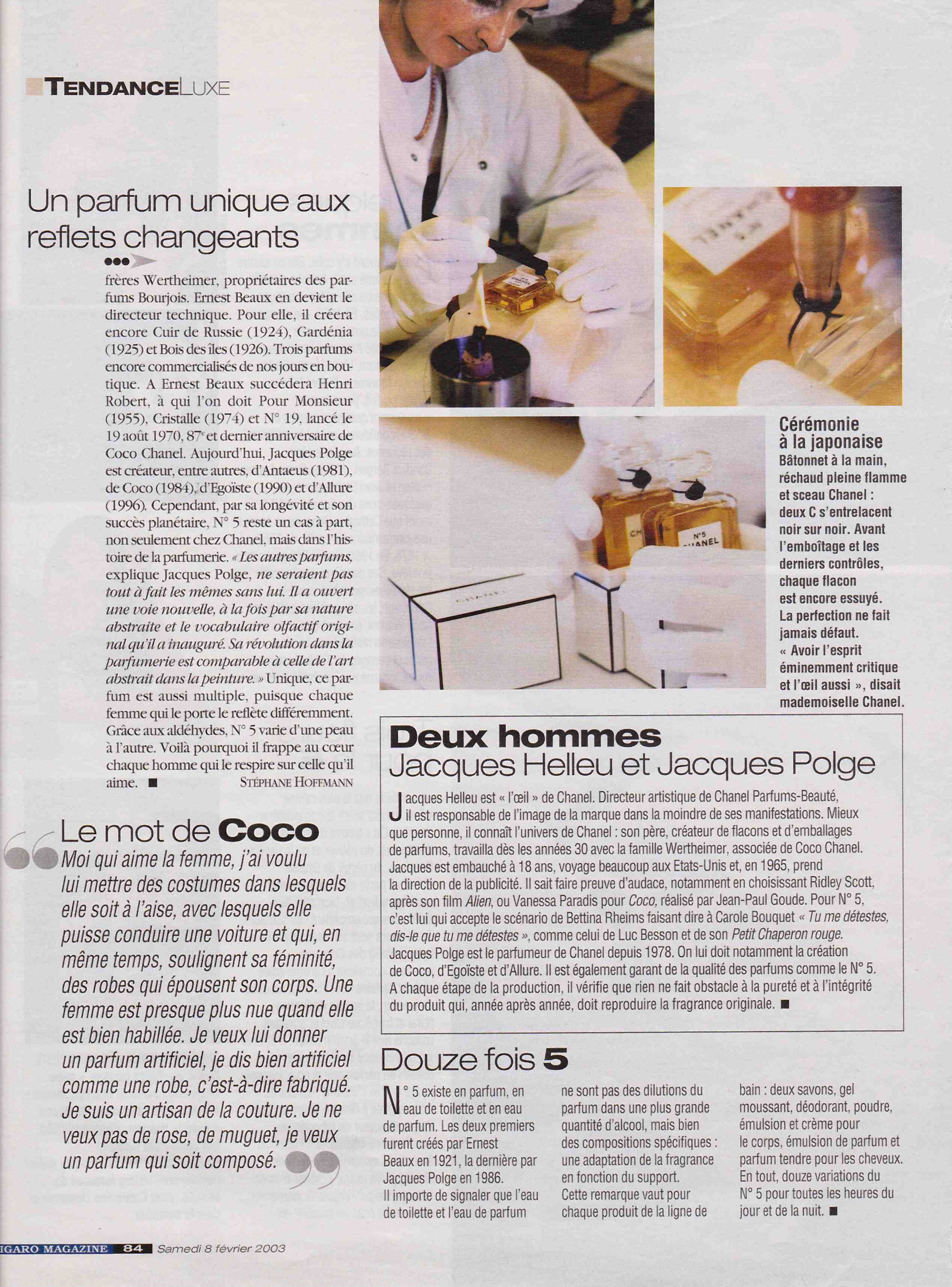 Article Parfum Chanel 5 Page 5