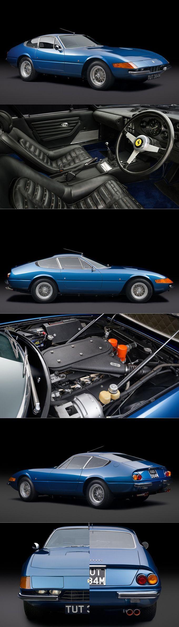 1973 Ferrari 365 GTB/4 Daytona / 352hp V12 / Italy / blue #ferrarienzo