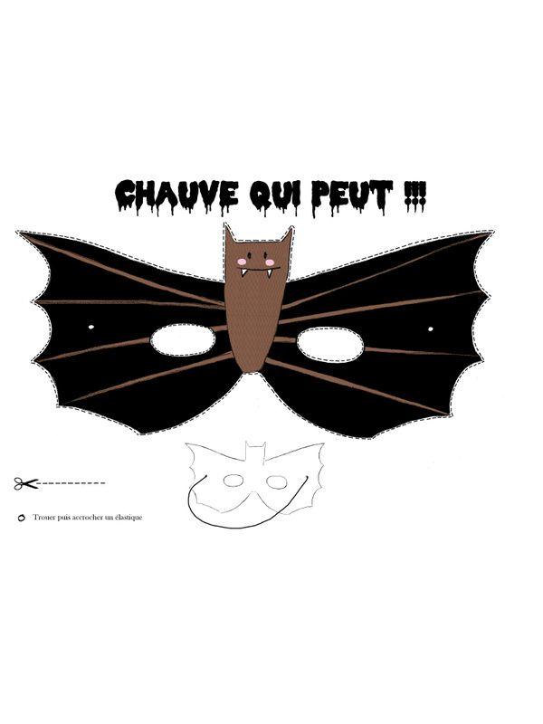 Masque chauve souris coloris pdf fichier pdf - Masque chauve souris a imprimer ...