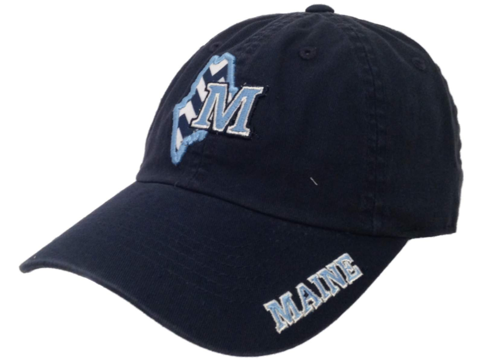 74c8fdd94e4b08 Made and Designed by Top of the World. - Size is a One Size Fits All -  Embroidered on the front and bill is a Maine Black Bears logo in a ...