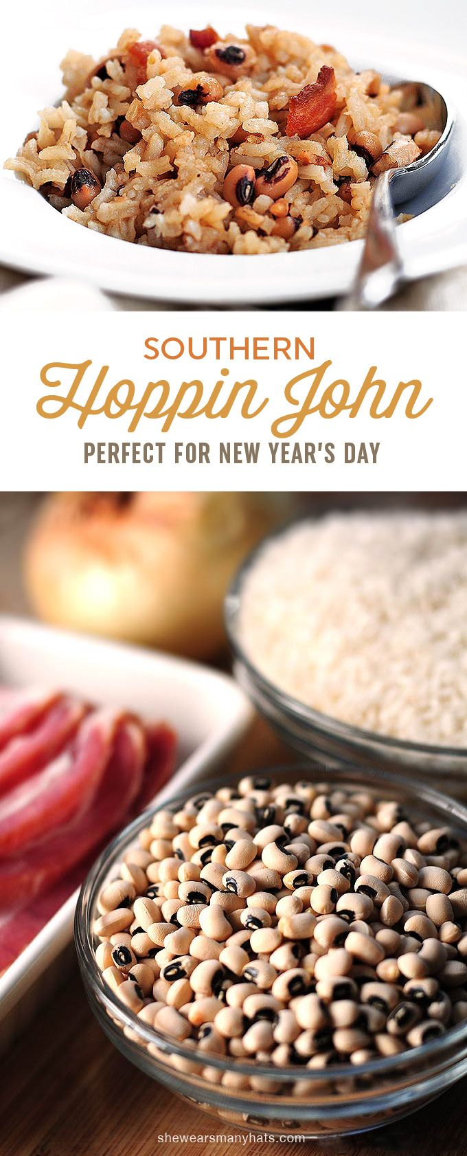 Hoppin John, a traditional southern dish enjoyed each year