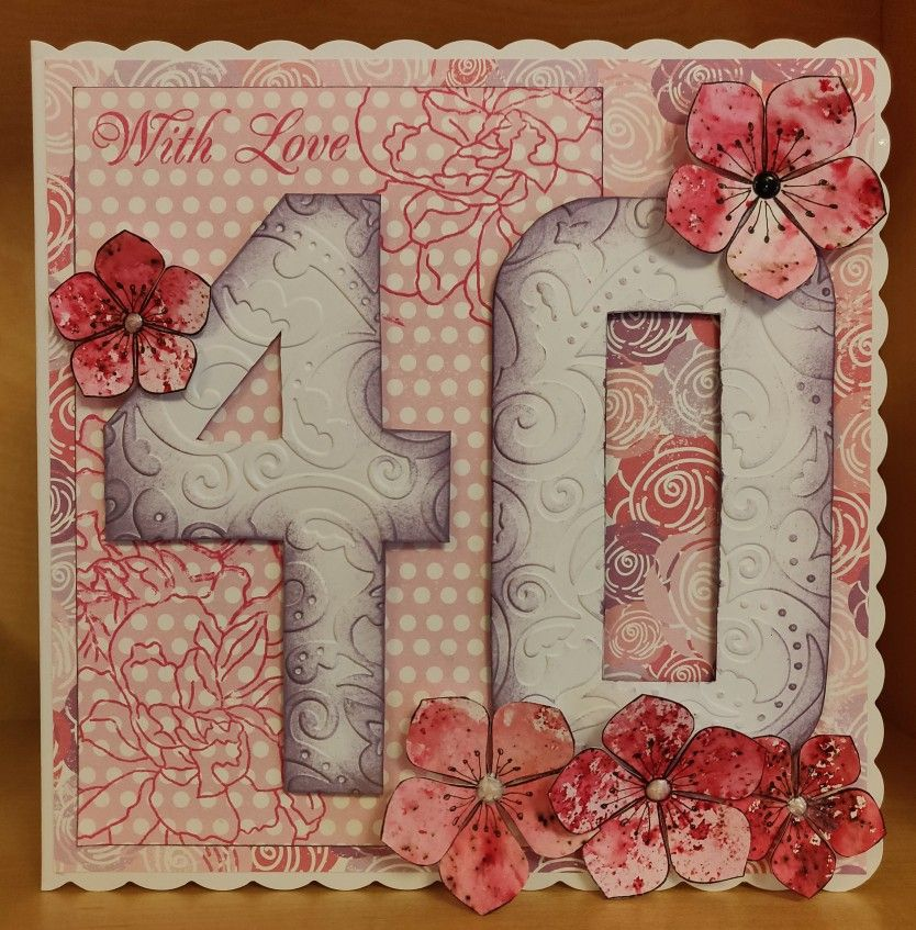 For rosemary. Number template, petal stamp and sentiment ...