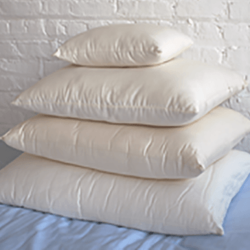 100 Eco Wool Pillow With Organic Cotton Cover Purelivingspace Com Wool Pillows Pillows Organic Pillow
