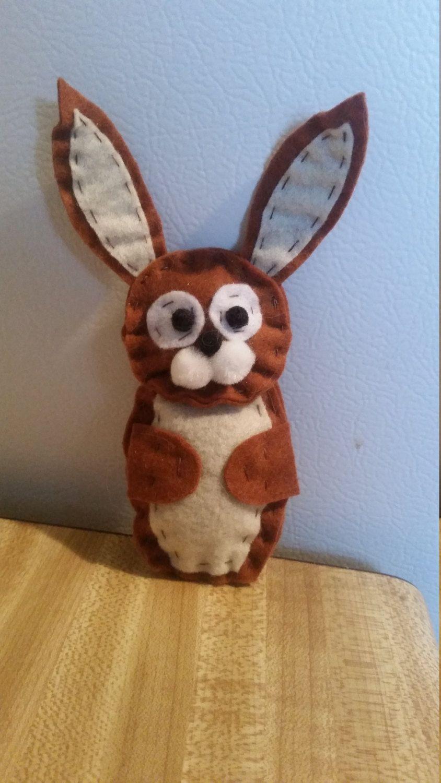 Felt Woodland Bunny Rabbit Plush [DIY] Sewing Pattern by NotSoBoringGoering on Etsy
