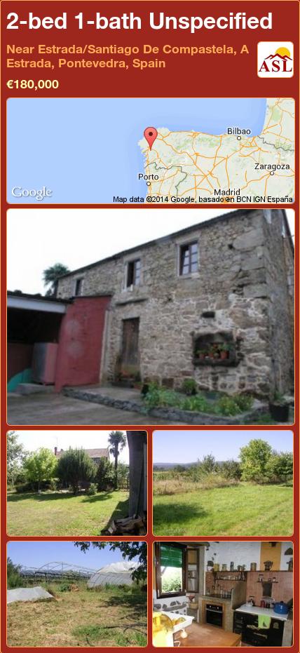 2-bed 1-bath Unspecified in Near Estrada/Santiago De Compastela, A Estrada, Pontevedra, Spain ►€180,000 #PropertyForSaleInSpain