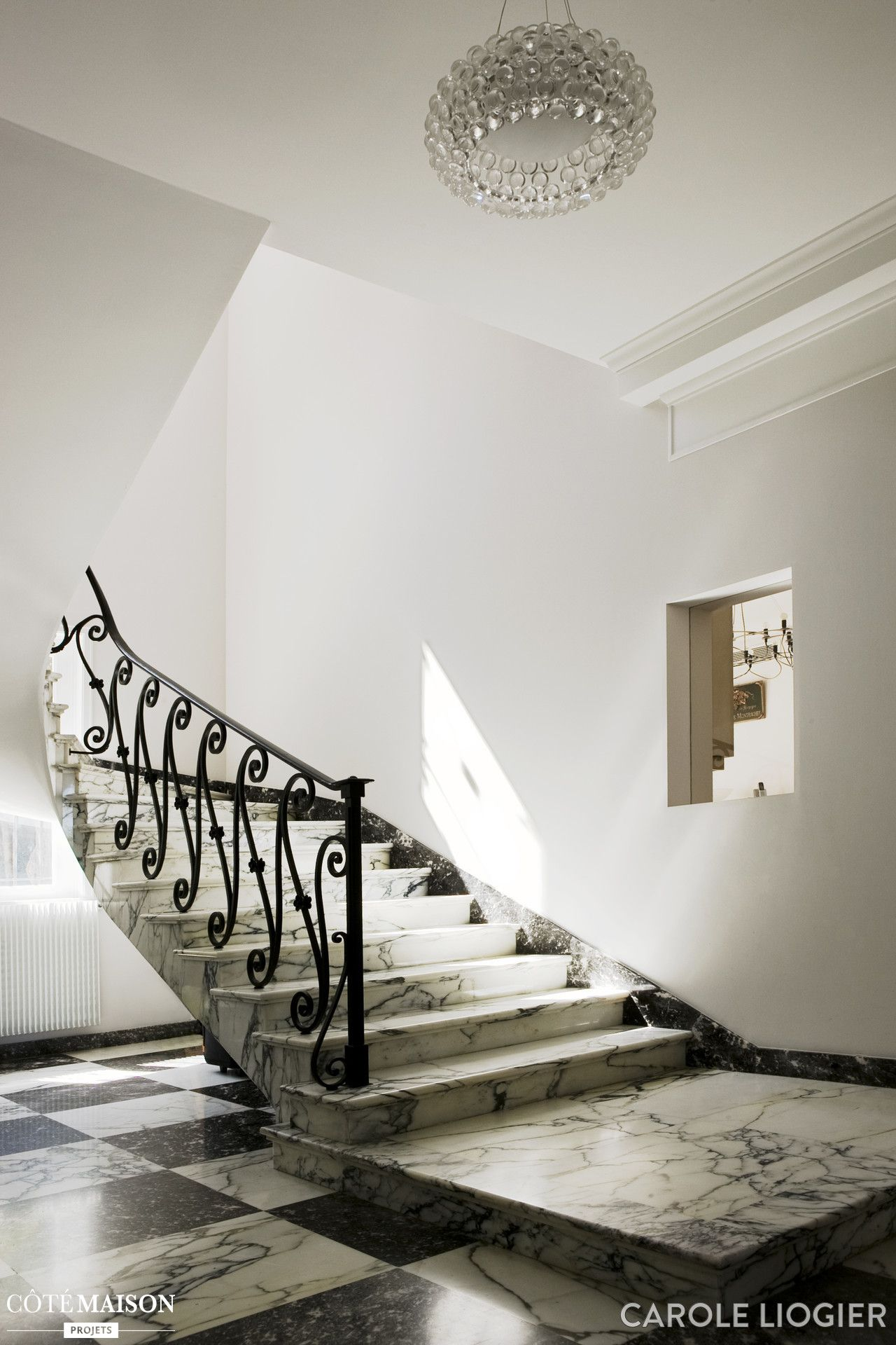 escalier en marbre noir et blanc saint jean cap ferrat. Black Bedroom Furniture Sets. Home Design Ideas