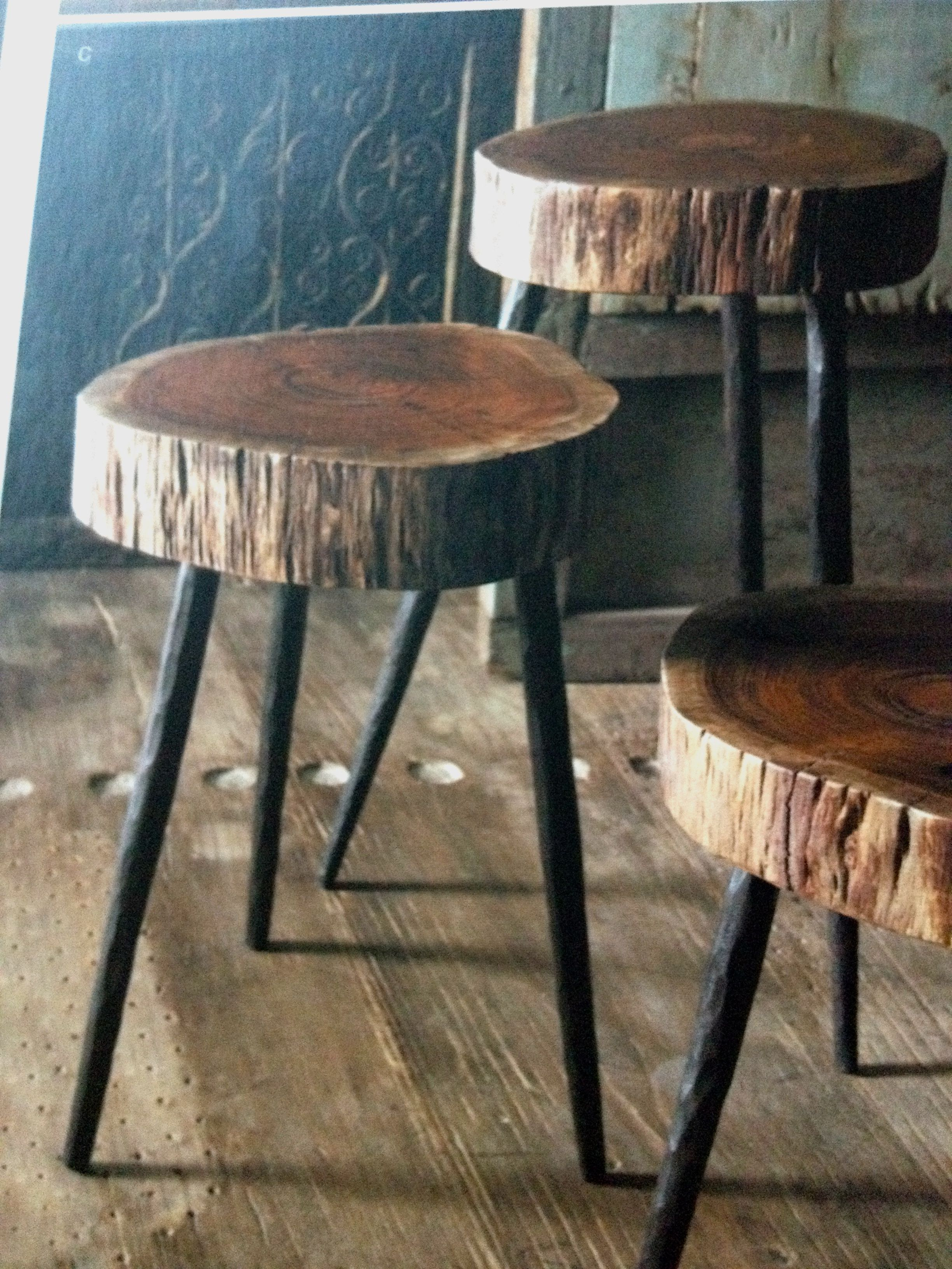 Sliced Wood Side Tables In Three Different Sizes Available To Purchase Via Eclectic Wood Slice Crafts Large Wood Slices Wood Tree Slice