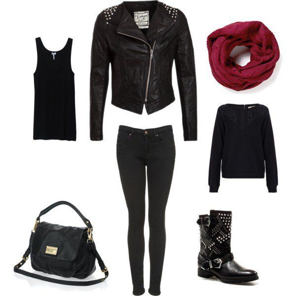 cbfd5b049989d1 Fashionable Outfit Ideas with Leather Jackets for Fall 2014 .