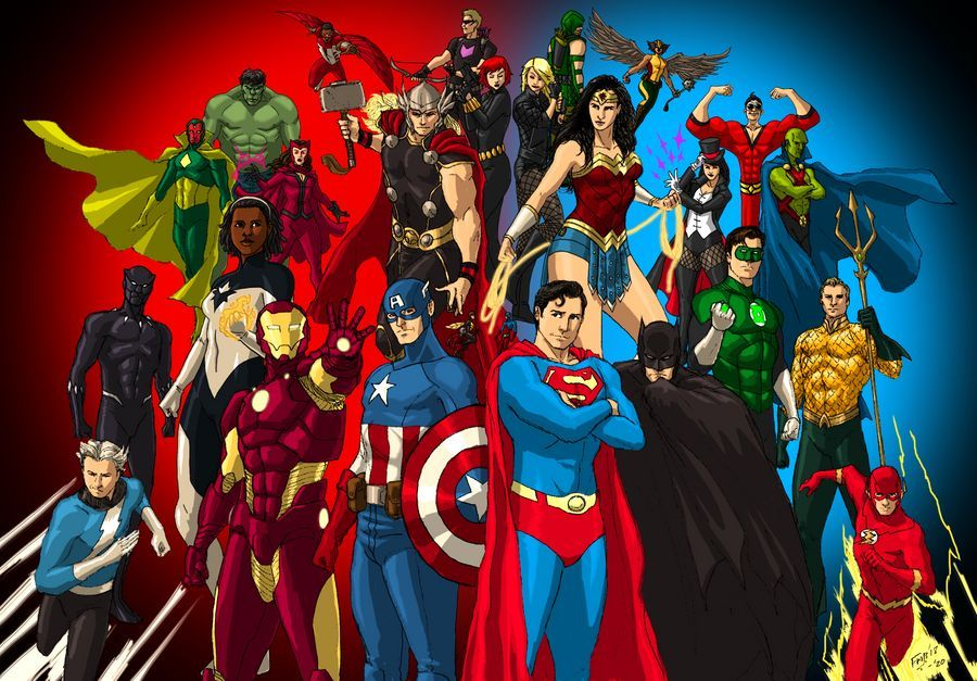Dc Marvel Justice League And The Avengers By Kyomusha On Deviantart Marvel And Dc Superheroes Dc Comics Vs Marvel Marvel Comics Superheroes