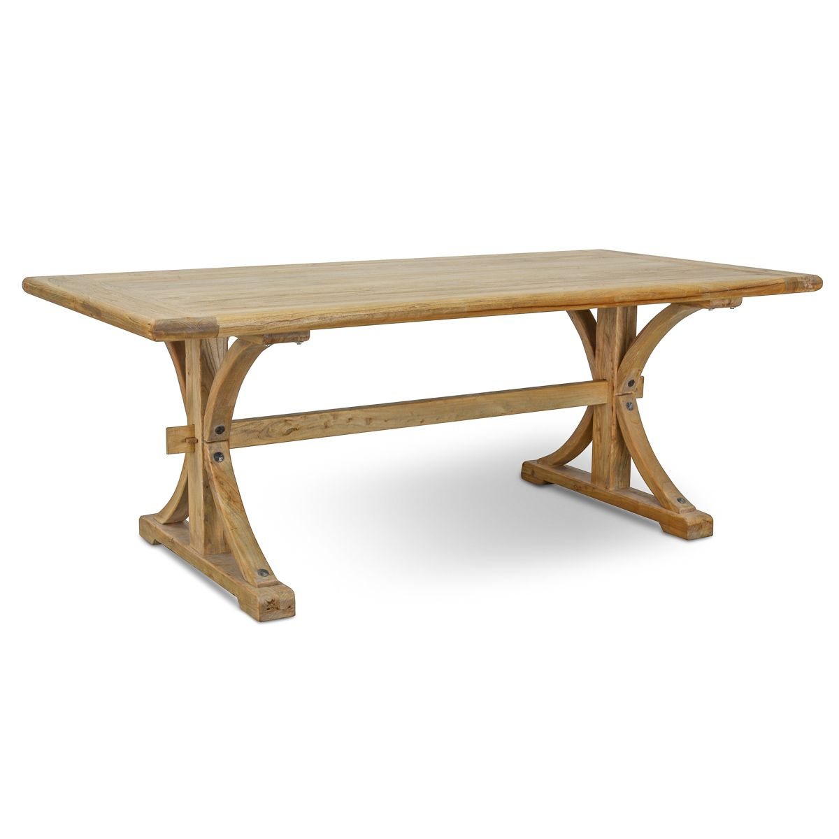 Marcus reclaimed elm wood dining table 1 98m natural 1050 interior secrets