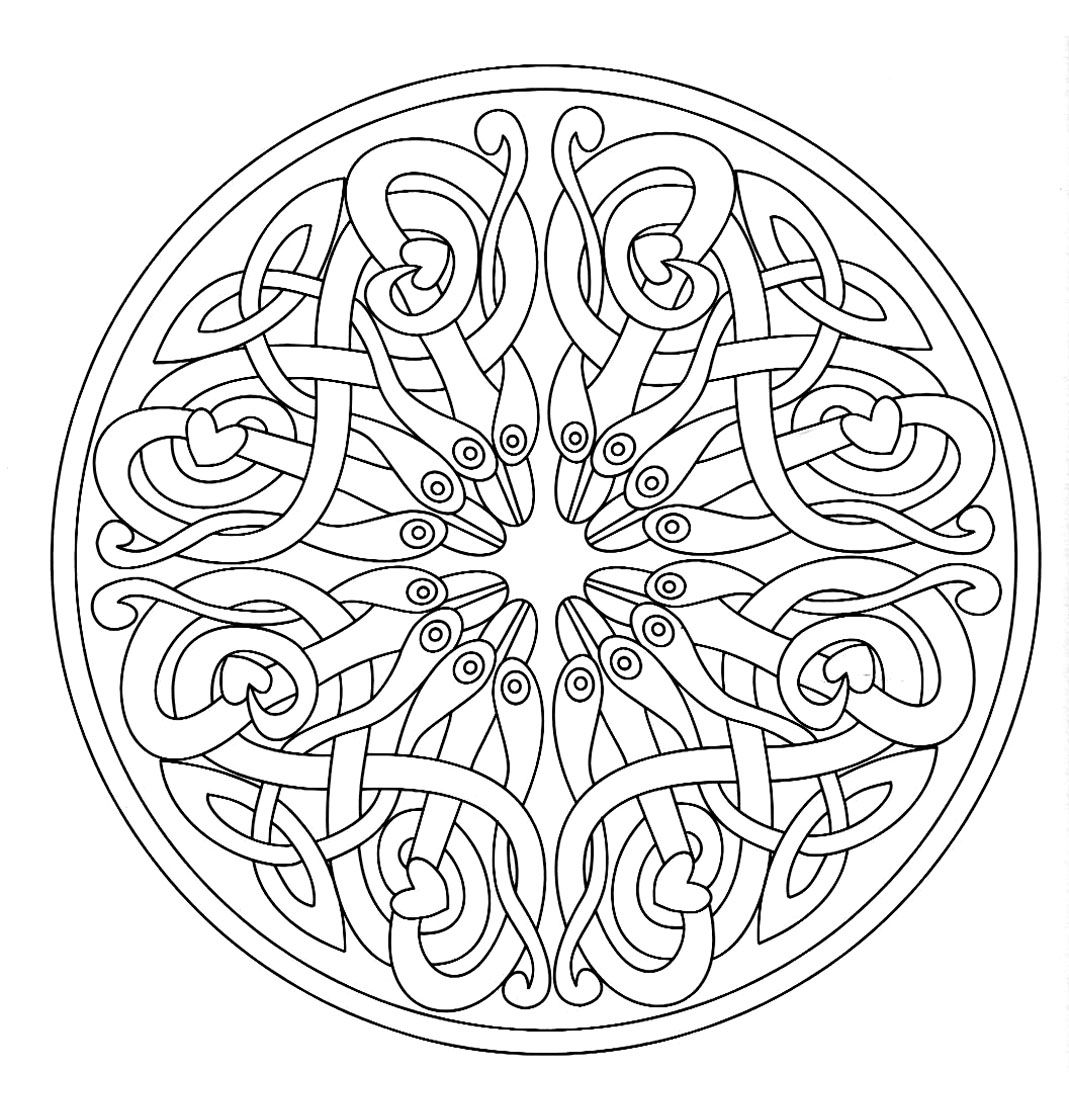 Free coloring page «coloring-mandala-adult-7». A mandala made of an ...