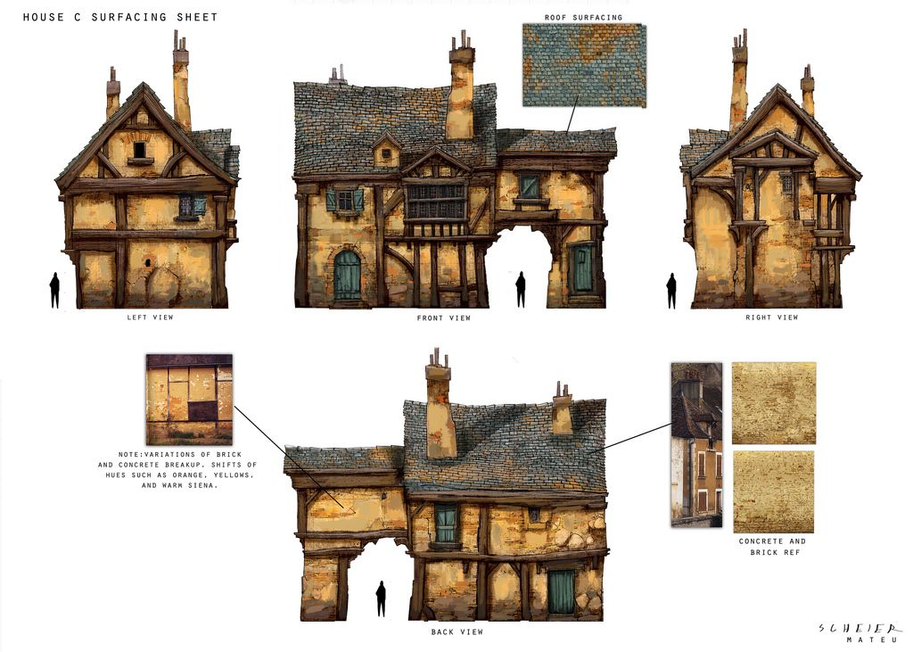 Great Medieval House Plan Models Sketches