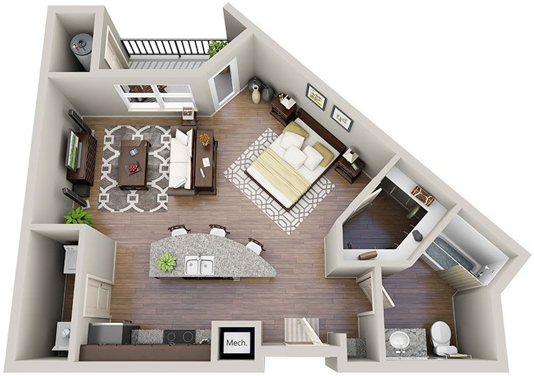 Delicieux Floor Plans   Solis Sharon Square Apartments   Make That A Murphy Bed And  Just