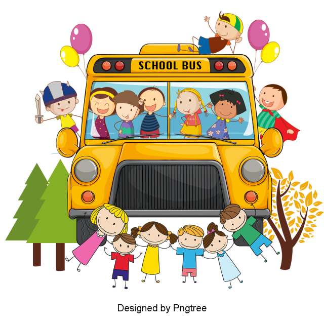 Beautiful Cool Cartoon Cute Students Take The School Bus To School Beautiful Cool Cartoon Png Transparent Clipart Image And Psd File For Free Download Cool Cartoons School Bus Cartoons Png