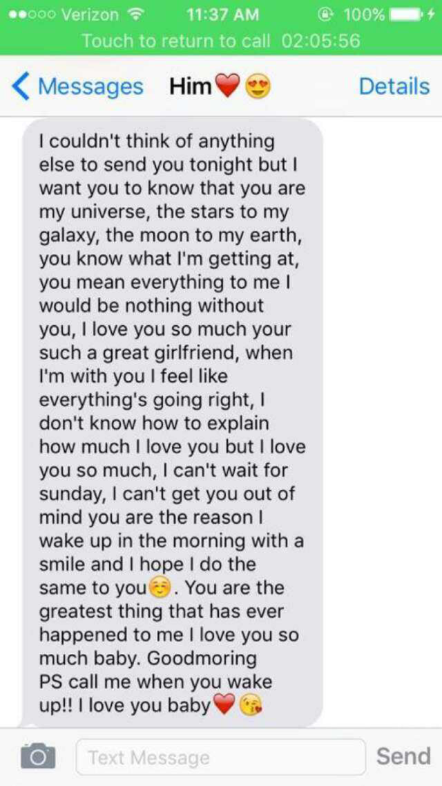 Cute paragraphs to write to your boyfriend