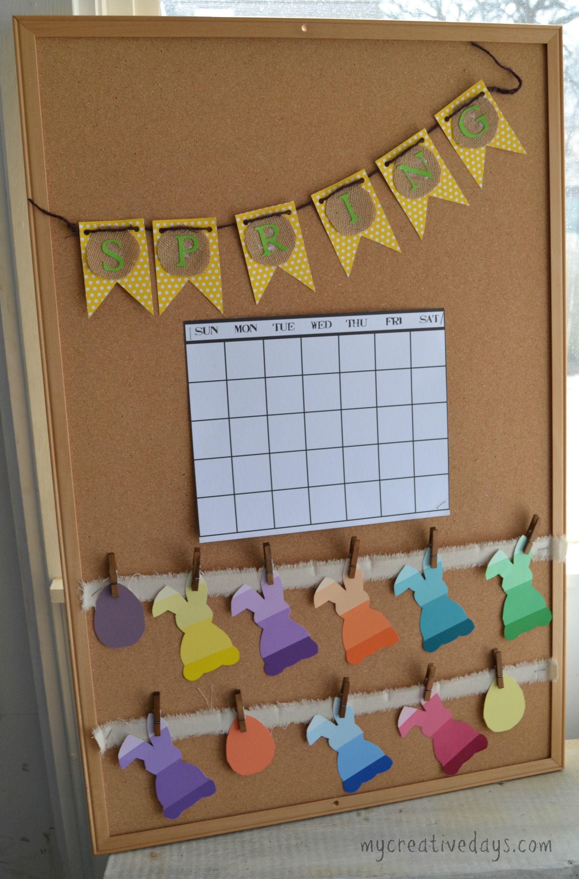 Spring Calendar And Bulletin Board For Kids Mycreativedays Com