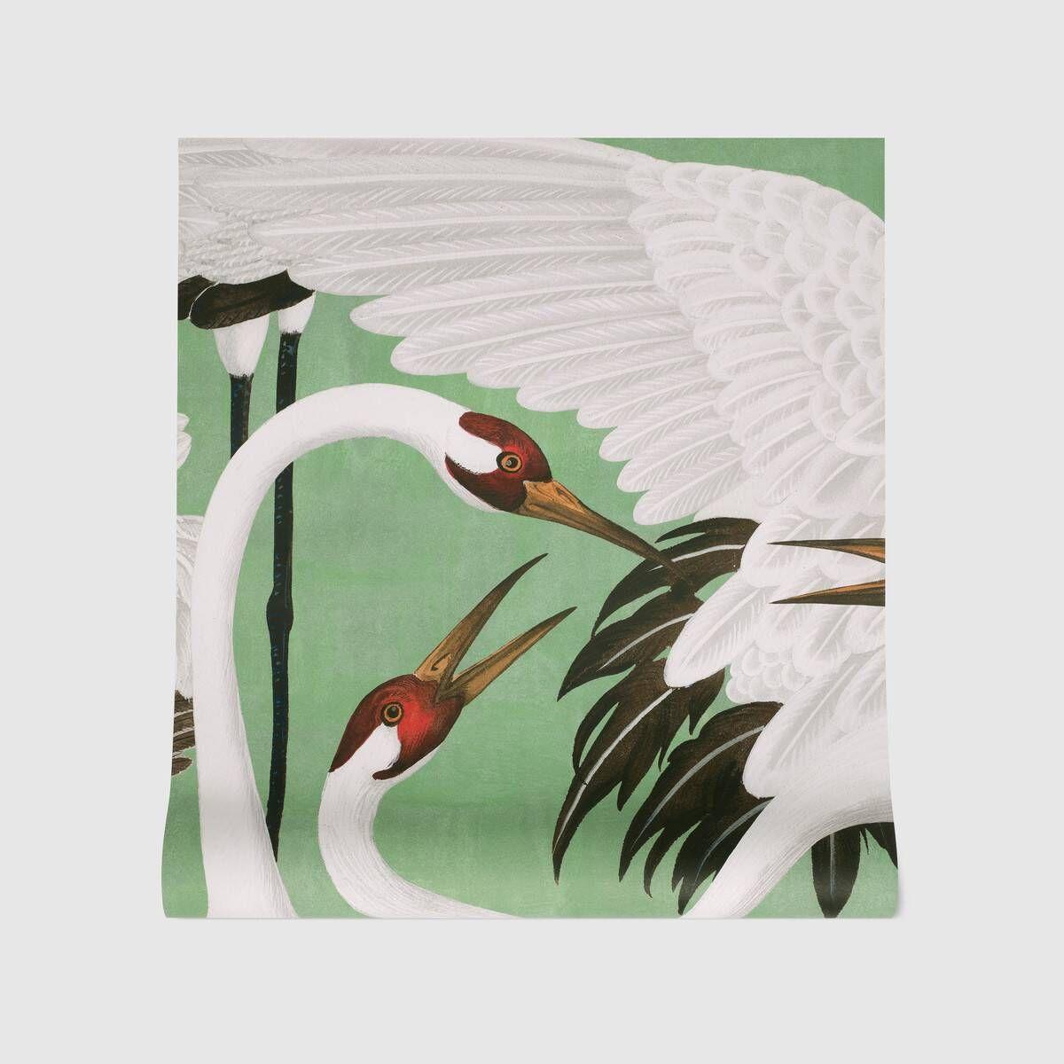 Gucci Heron print wallpaper Print wallpaper, Wallpaper
