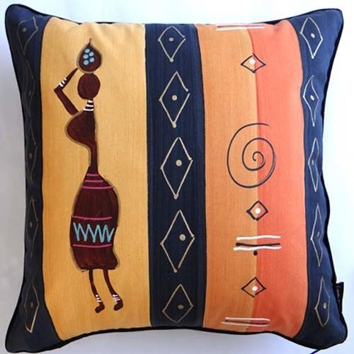 Hand Painted Cushion Cover 50 X 50cm With Images Hand Painted