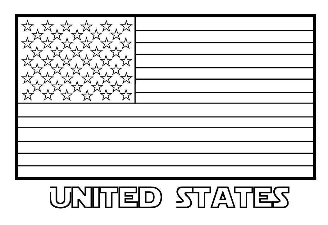 United States Of America Flag Clipart Black And White Kids Flag