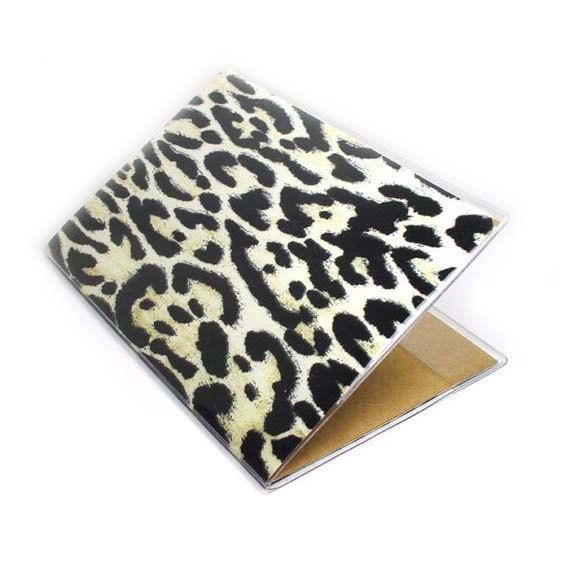 Leopard Print passport cover  Change Your Spots  fits by beesocks, $5.00