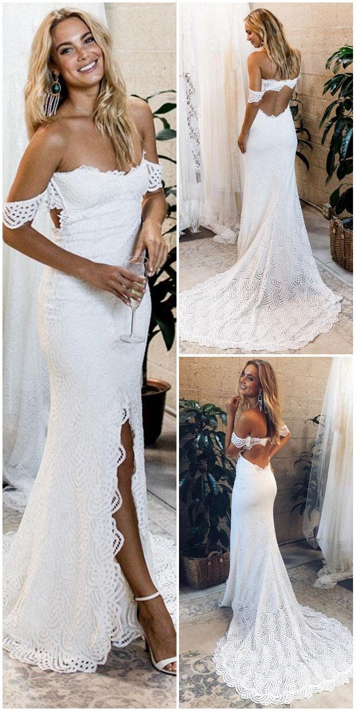Romantic White Lace Mermaid Wedding Dresses Vintage Long Wedding Dress For Bride Open Back Spr White Lace Wedding Dress Wedding Dresses Wedding Event Dresses [ 1439 x 720 Pixel ]