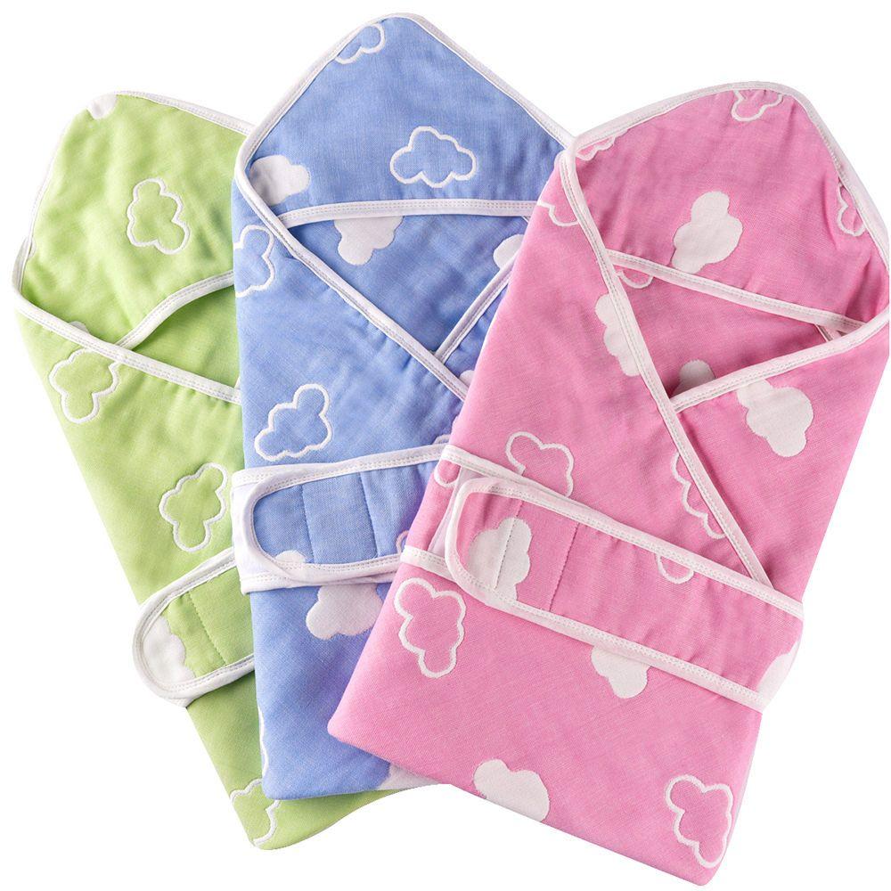 Muslin Cotton 6 Layer Baby Splash Wrap Bath Hooded Towel Infant