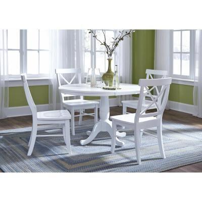 Bright White Kitchen Table Set