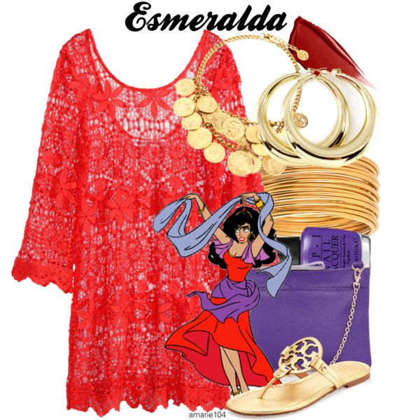 Esmeralda by amarie104 on Polyvore featuring H&M, Tory Burch, Oasis, Ben-Amun, Hourglass Cosmetics and OPI
