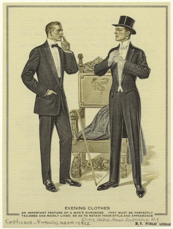 Adler Bros, 1912, New York. Evening Wear.