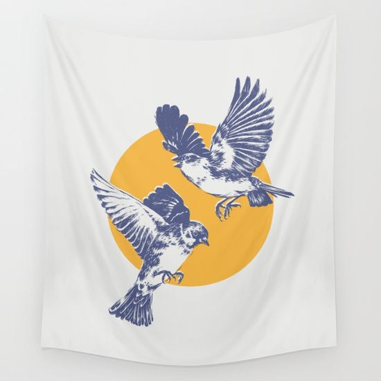 Sparrows wall tapestry animals illustration nature birds sparrows wall tapestry animals illustration nature birds sparrow circle altavistaventures Choice Image
