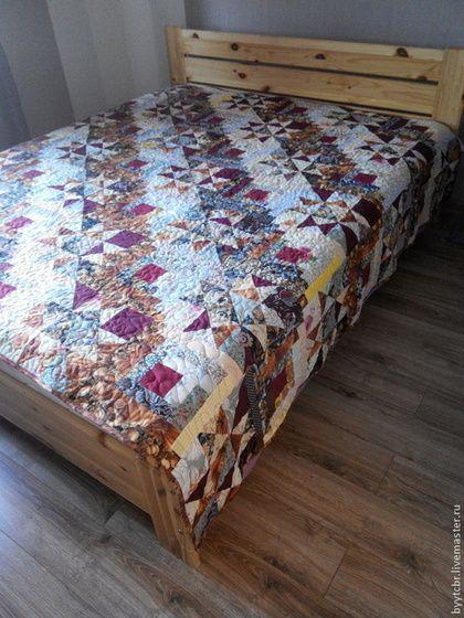 Текстиль, ковры ручной работы. Ярмарка Мастеров - ручная работа. Купить лоскутное покрывало БАБЬЕ ЛЕТО лоскутное. Handmade. Бордовый