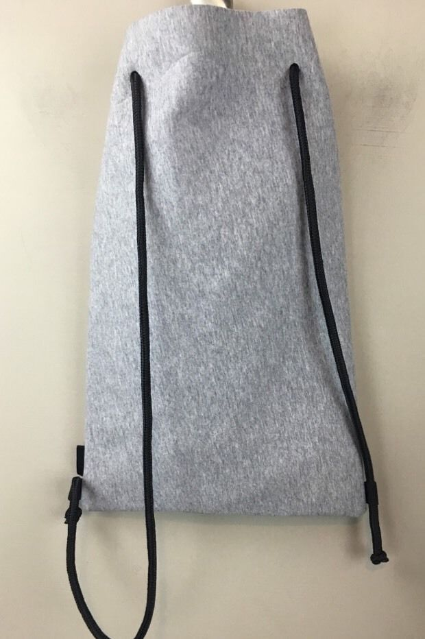 Triangl Grey Neoprene Drawstring Bag Swimming 16 5