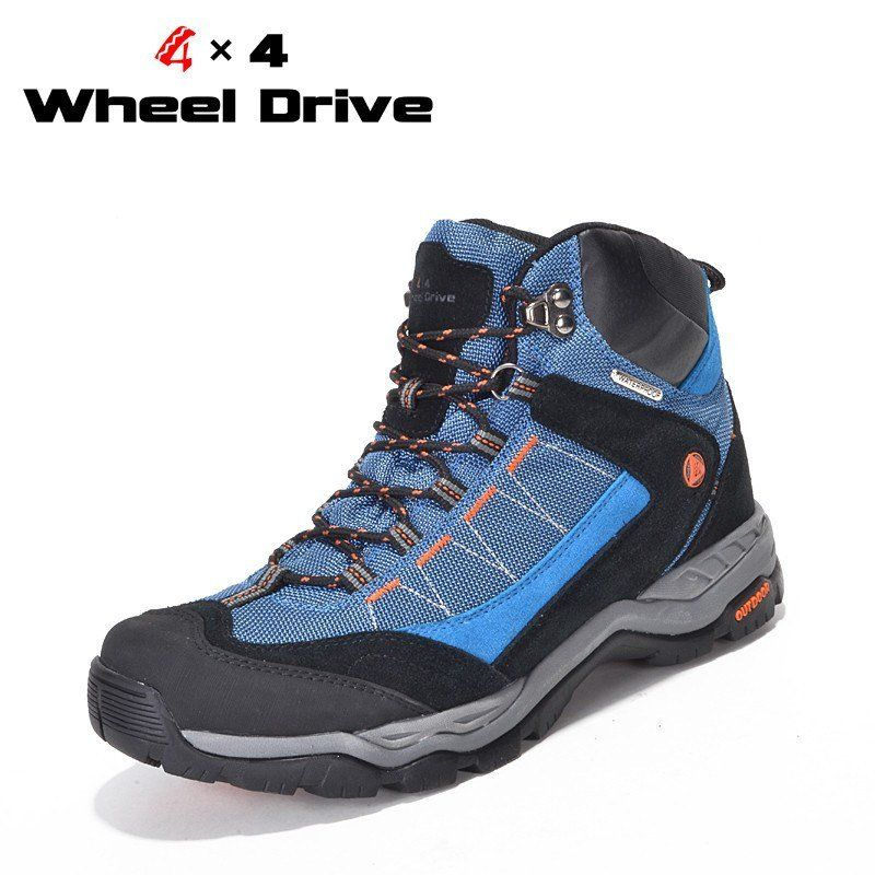Men Hiking Boots Trekking Shoes Warm Couple Non Slip Outdoor Climbing Sneakers