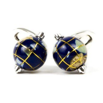 Jan Leslie Mens Spinning-Globe Cufflinks NW6FD