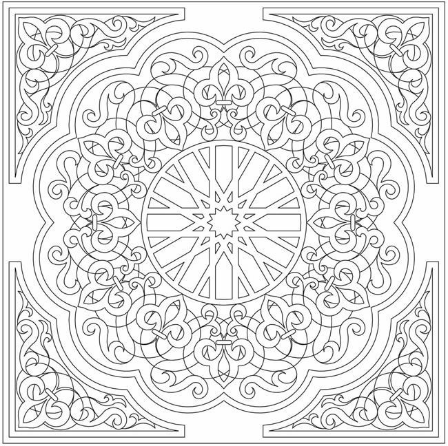 coloring pages islamic patterns drawing - photo#45