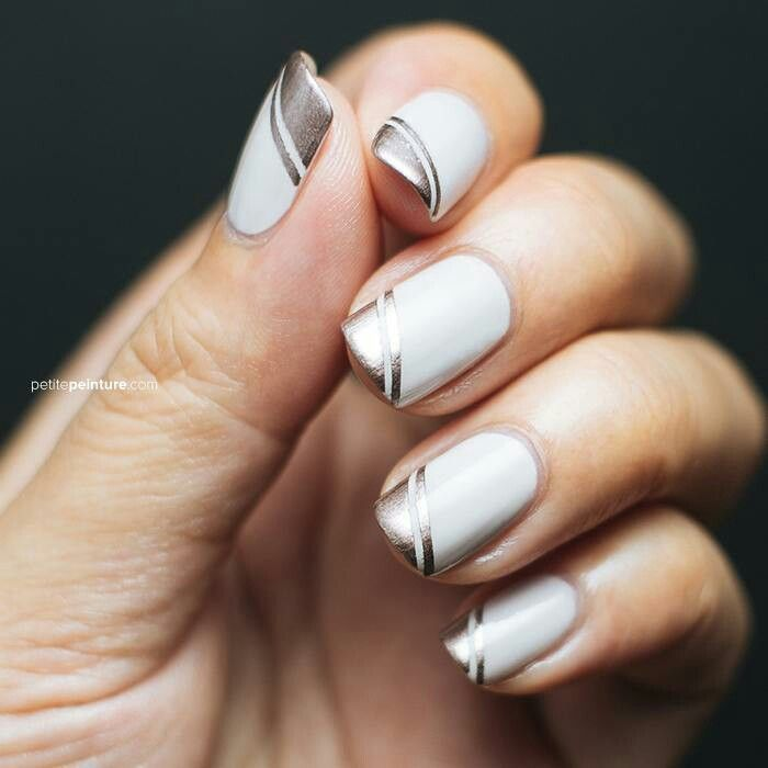 Striping tape nail art | Nails Design | Pinterest | Tape nail art ...