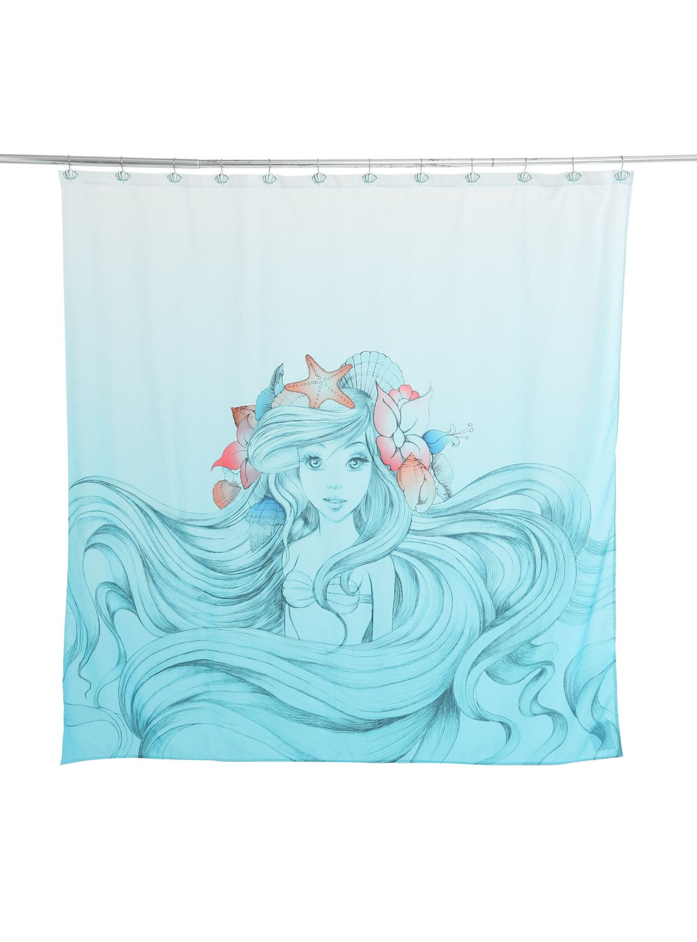 Ariel Shower Curtain Disney The Little Mermaid Ariel Shower Curtain Buy Mermaid