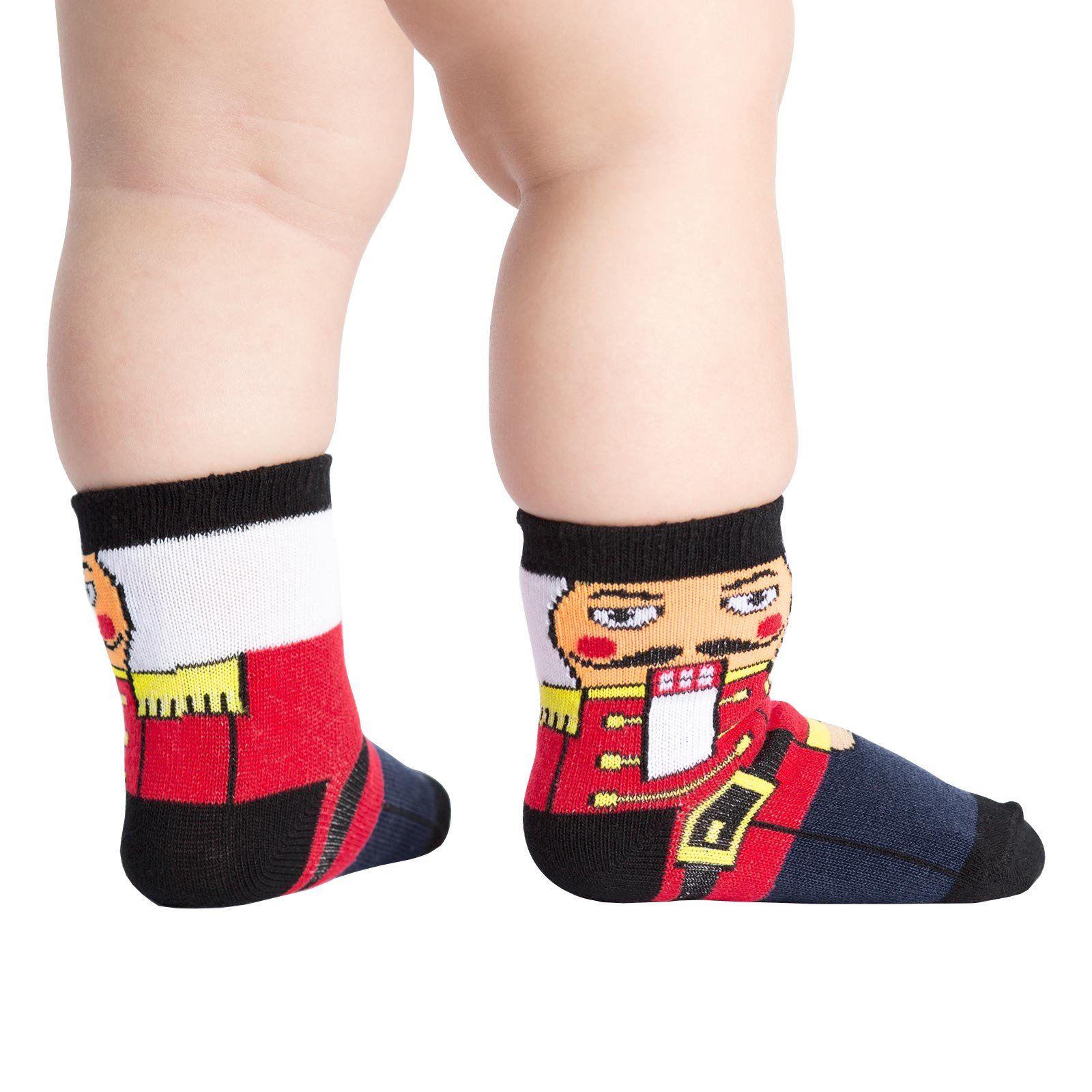 Sock It To Me Toddler Christmas Funky Crew Socks - Nutcracker (Shoe ...