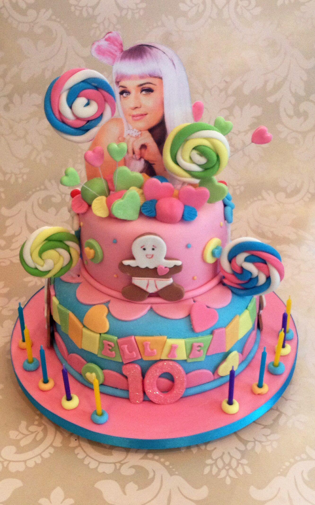 Phenomenal Katy Perry Cake With Images Katy Perry Birthday Birthday Funny Birthday Cards Online Inifofree Goldxyz