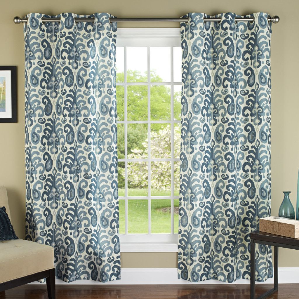 m.style-Ikat-Plume-Poly-Linen-Textured-Cloth-Grommet-Curtain-Panels ...