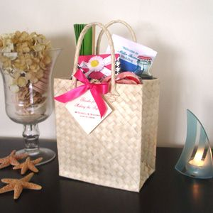 Wedding Welcome Bags For Guests With The Program Things To Do Around Town