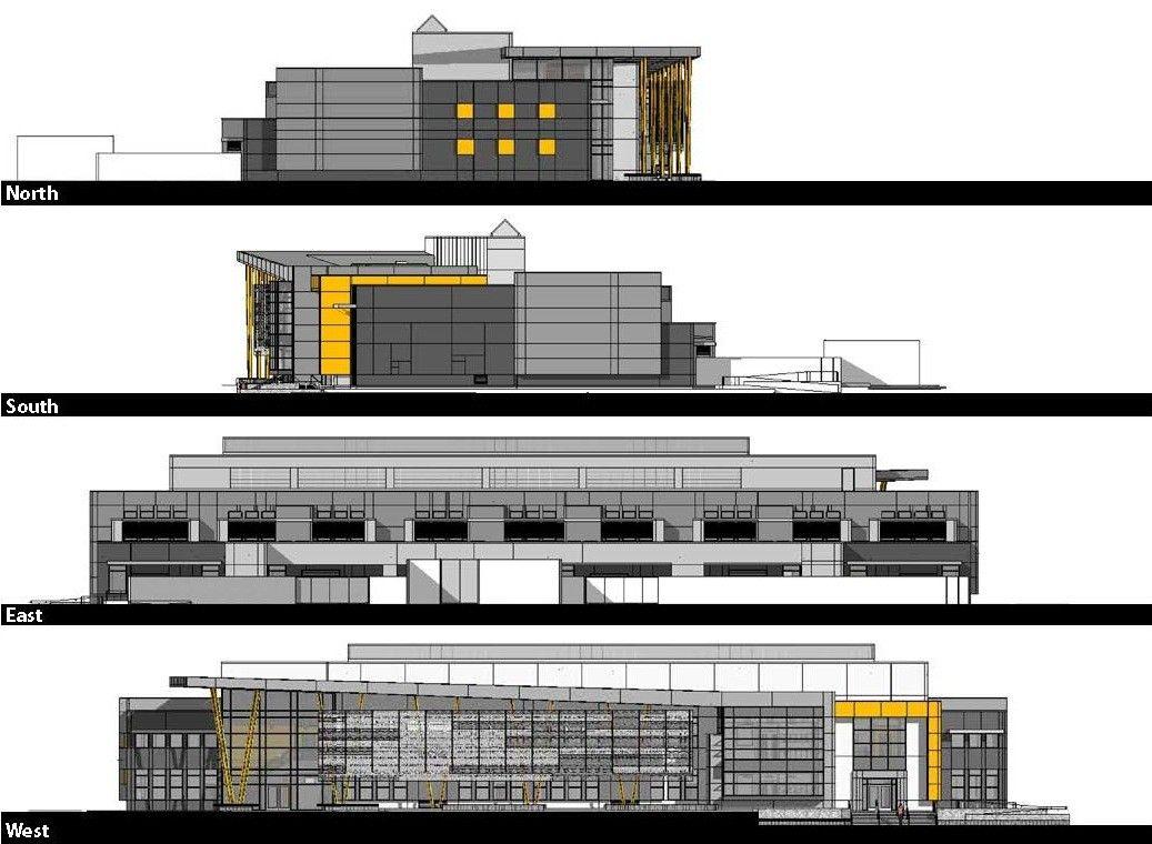 Primary School Plan Elevation : Gallery of edison high school academic building darden