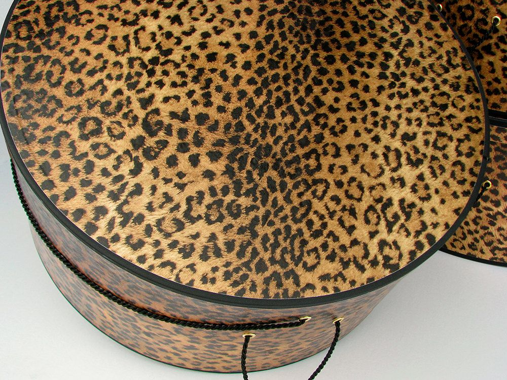 CLASSIC LEOPARD PRINT X-Large Hat Boxes - Millinery Stack ...