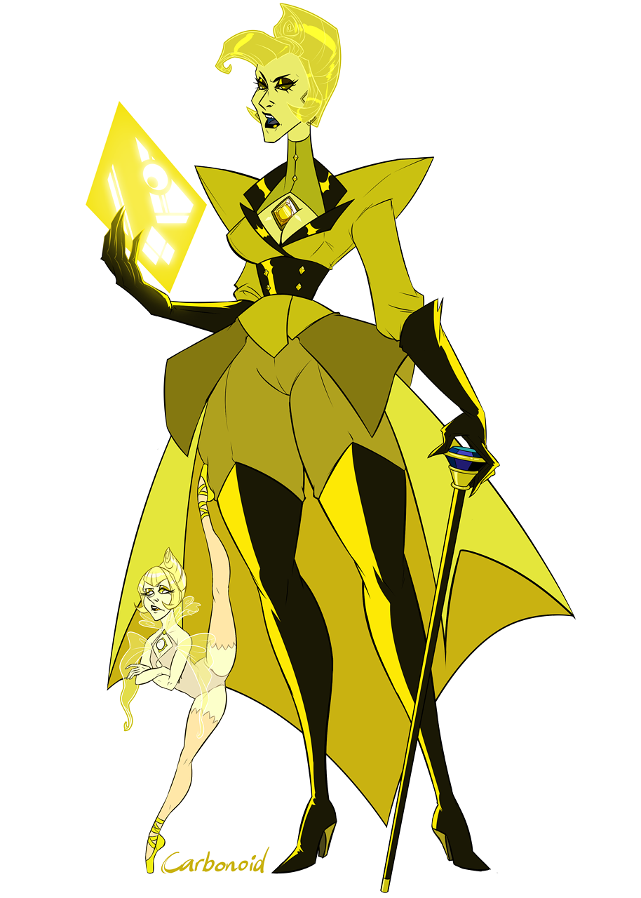 Carbonoid S Yellow Diamond And Yellow Peral Steven Universe Yellow Pearl Steven Universe Steven Universe Steven Universe Fanart