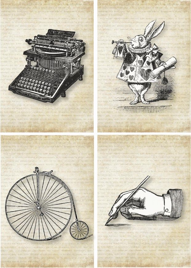 Decor Asylum Vintage Aeras Free Vintage Printables Vintage Printables Alice In Wonderland Printables
