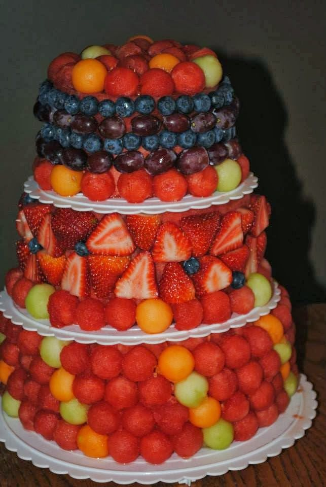 Fresh Fruit Wedding Cake CakeAppealblogspotcom Beauty - Healthy Wedding Cakes