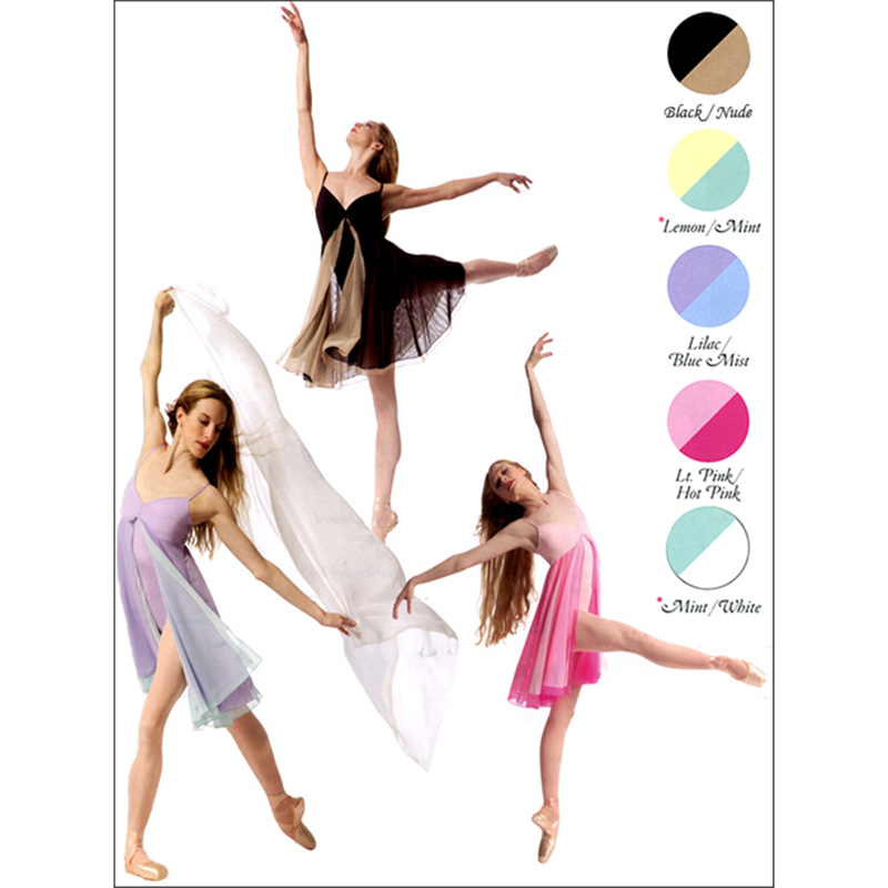 Contrasting Layered Dance Dress by Body Wrapper : P706, On Stage Dancewear, Capezio Authorized Dealer.